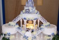 Castle Fountain Wedding Cake