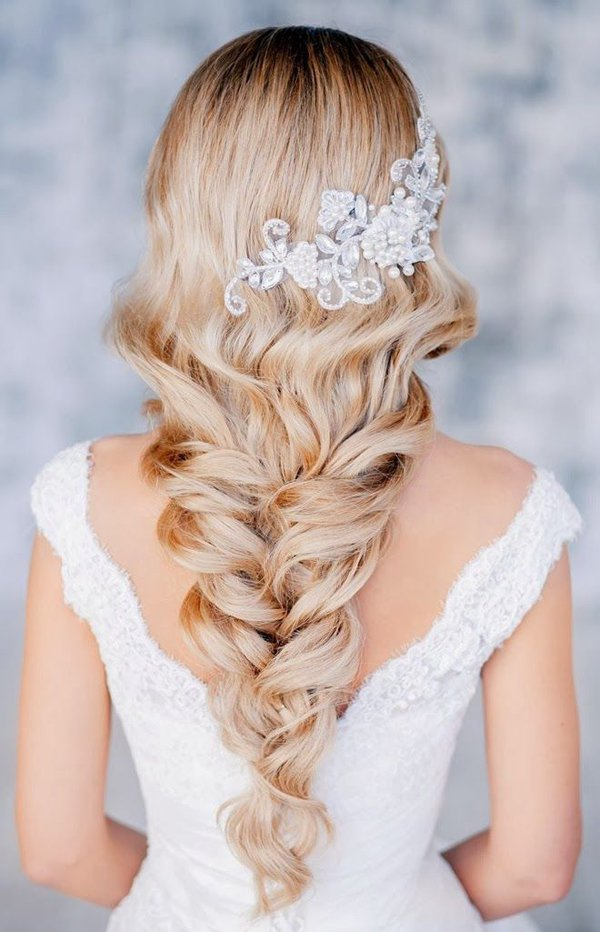 long blonde hairstyles. Wavy Long Blonde Bridal