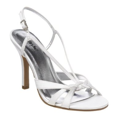 white ivory wedding shoes