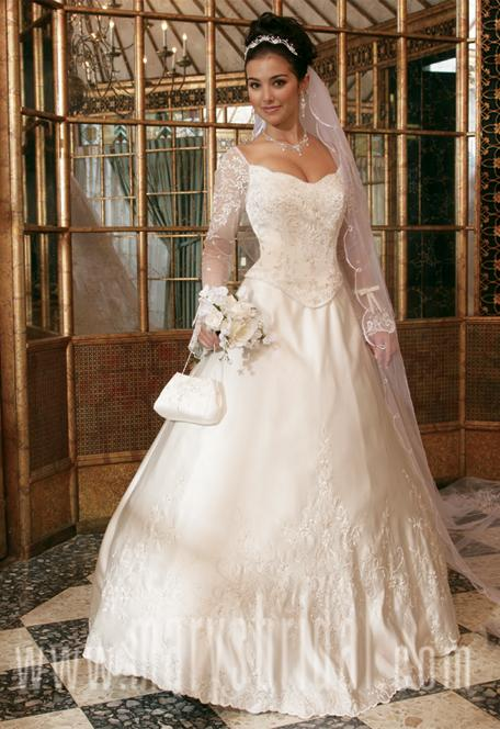 Strapless Modern Long Sleeve Wedding Dress