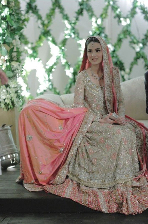 pink pakistani wedding dresses