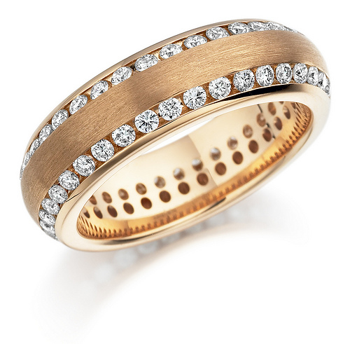 Bien diamond platinum wedding ring 2