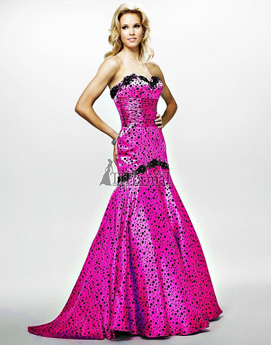 Cire by Landa Design Hot Pink Prom Dress