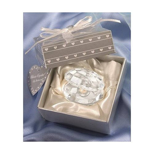 Crystal Oyster with Pearl Beach Wedding Favor