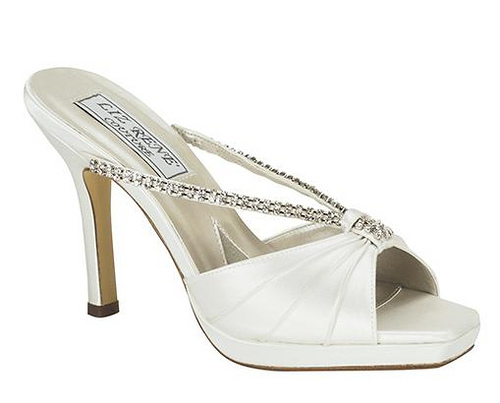 High Heel White Bridal Shoes Design