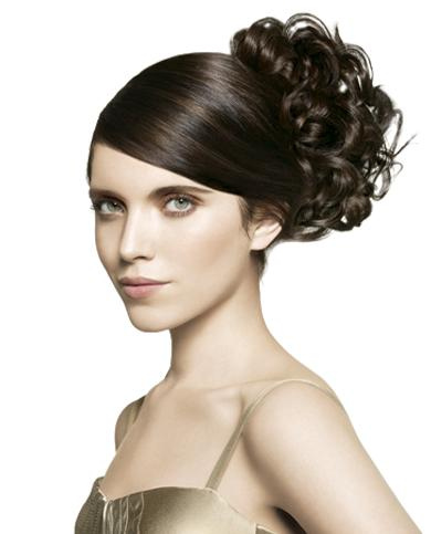 Your hairstyle must be matching with the wedding gown you have chosen.