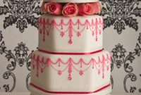 Delightful Pink Vintage Wedding Cake Design