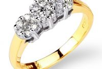 14k Two Tone Diamond Wedding Ring