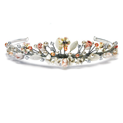 antique tiara adorned with pearls