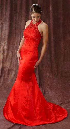 casual red wedding dresses