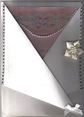 fancy fold wedding invitation card