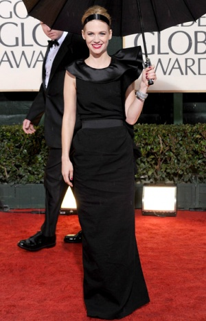 january jones black gown