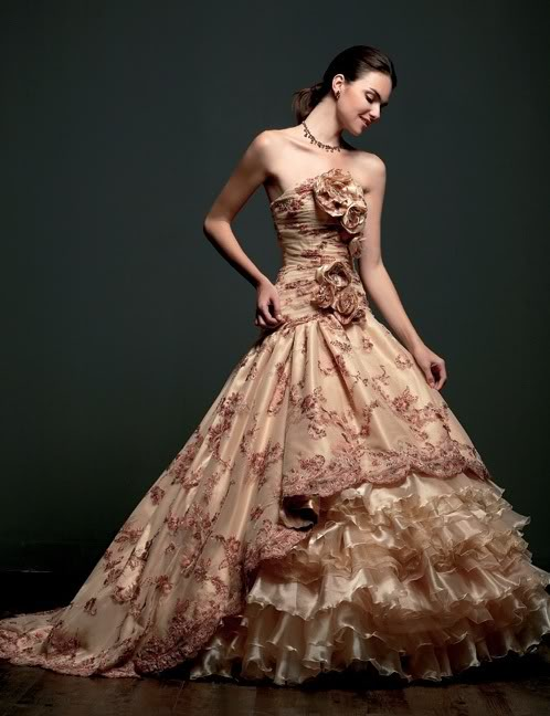 most desirable stunning wedding gown