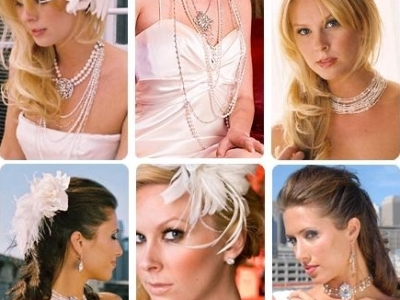 necklace earrings brides