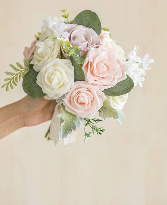 Latex Foam Vintage Artificial Wedding Bouquet