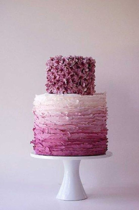 Purple And Lilac Ombre Wedding Cake By Maggie Austin Cake