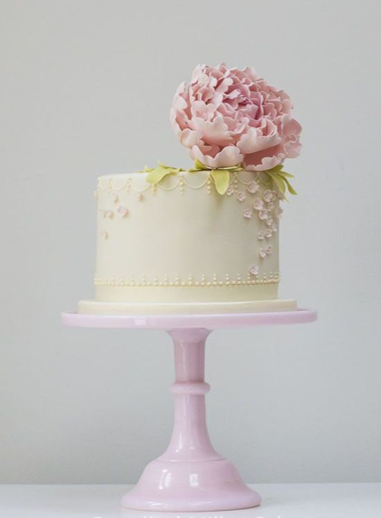 Romantic Single Tier Wedding Cake By Rosalind Miller Cakes