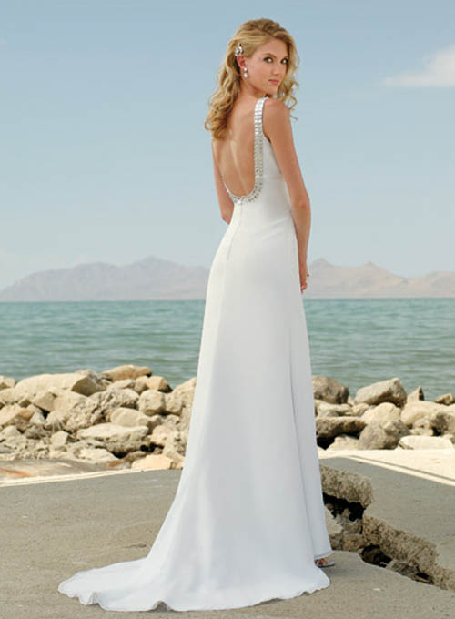 satin beach wedding dress ideas design