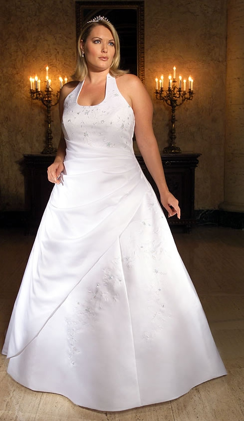strapless plus size wedding dresses picture