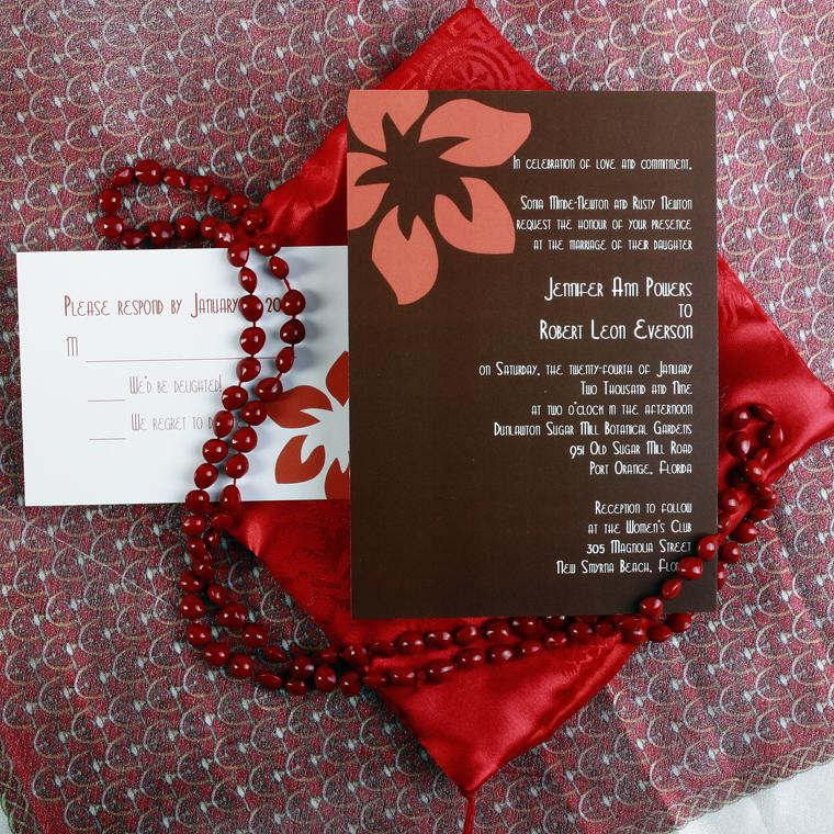 The Belize Wedding Invitation Card With Unique Design