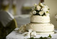 Traditional Wedding Cake Designed With Flowers
