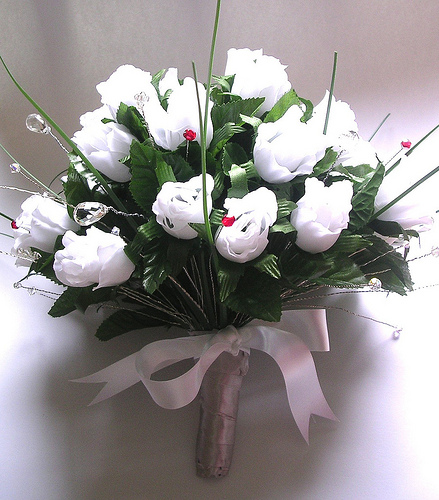 white rose flower for wedding and bouquet