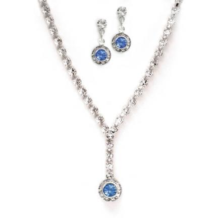 Hope Rhinestone Necklace and Earring Set