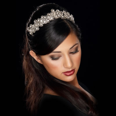 bridal hairstyles tiara. with ridal tiara