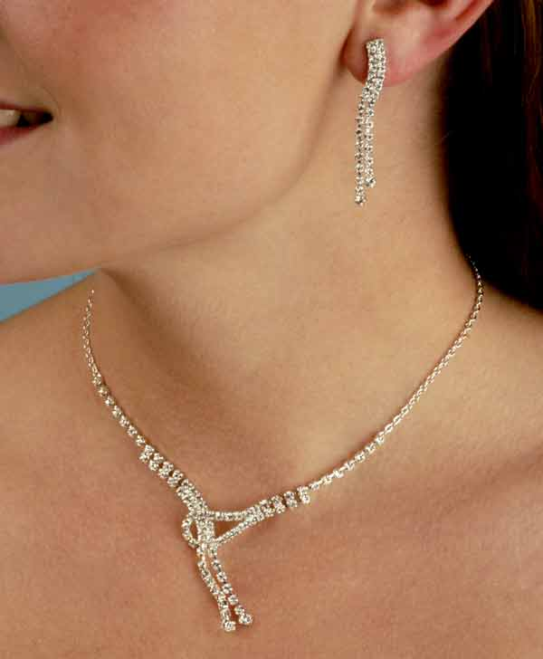 love knot bridal jewelry set