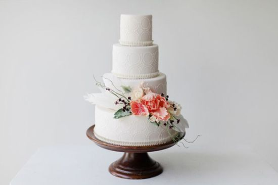 Intricate White Wedding Cake By The Cake That Ate Paris