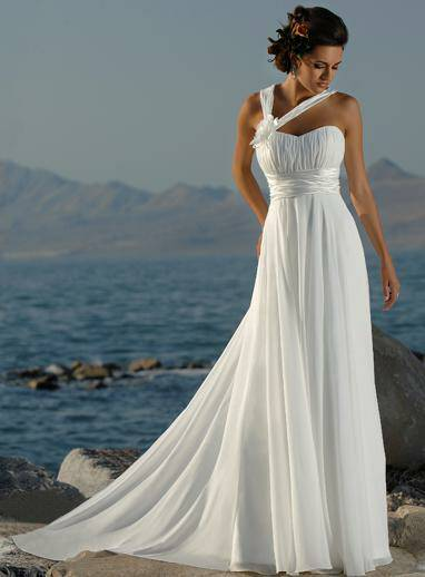 beach greek style wedding dresses