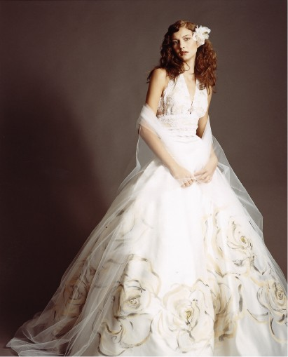 Classical Embroidered Vintage Wedding Dress