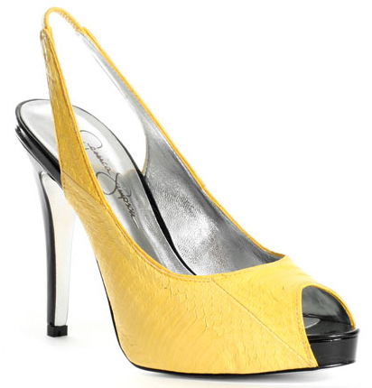 elegant yellow pumps heels