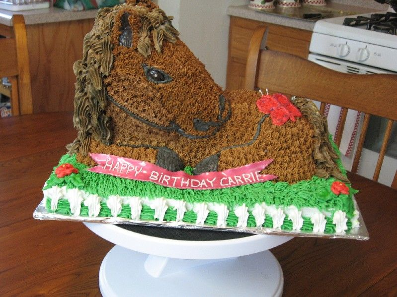 funny horse cakes