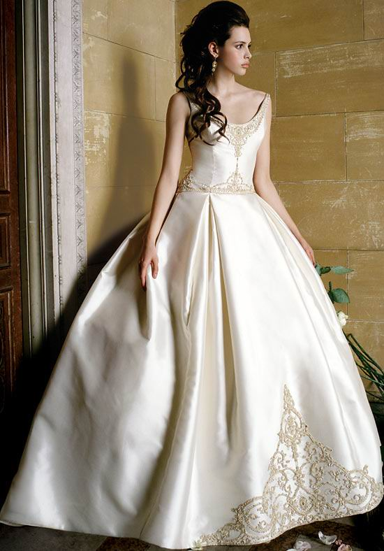 silk vintage wedding dress