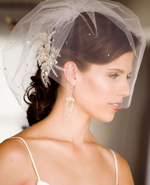 Wedding Accessories: Vintage With Cage Veil