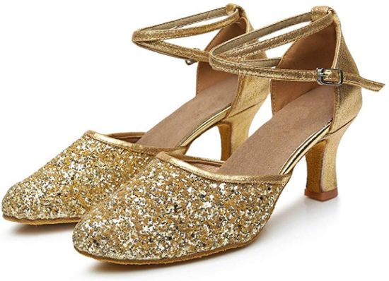 Sequin Gold Wedding Shoes