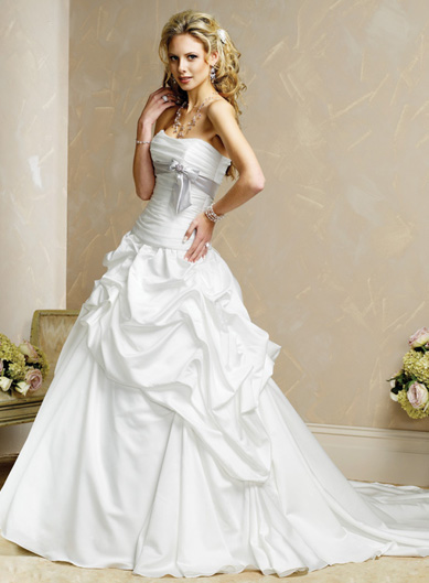 strapless white wedding dress