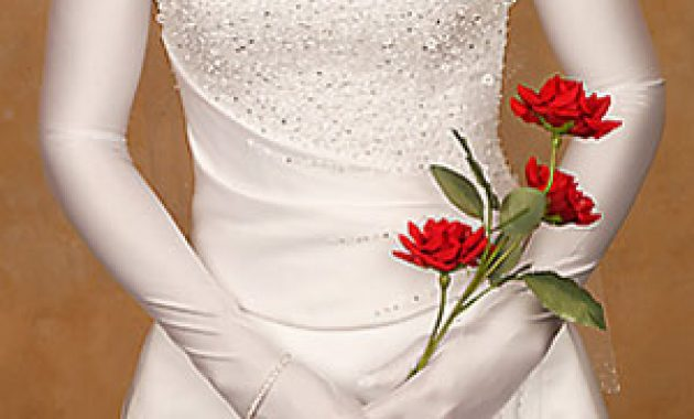 White Wedding Gloves