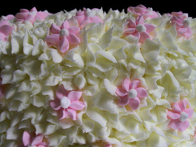 Almond Poppy Seed Bridal Shower Cake Iced With Rich Buttercream