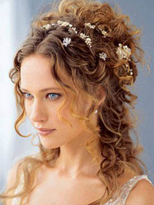 wedding hairstyles half up for curly long hair. Possibly Related Posts:
