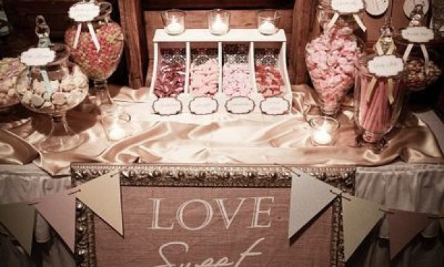 Sweet Retro Wedding Candies