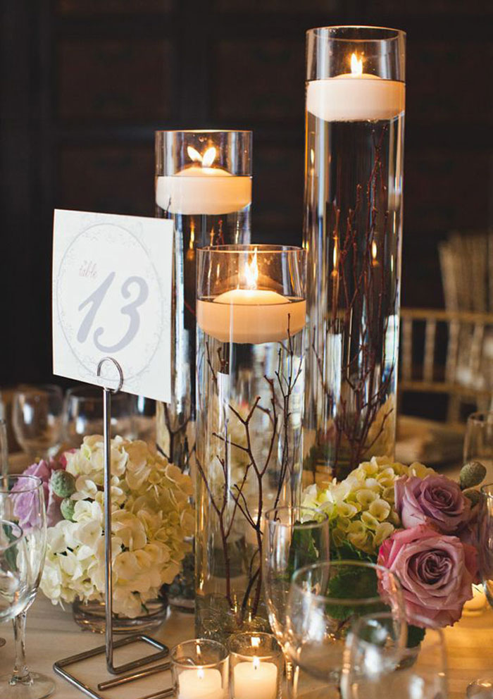 wedding candle centerpieces ideas : Sangmaestro