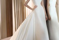 wedding dress with jewel neckline