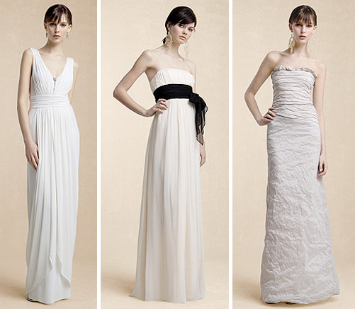 Trendy and Beautiful White Bridesmaid Dresses 2010/2011