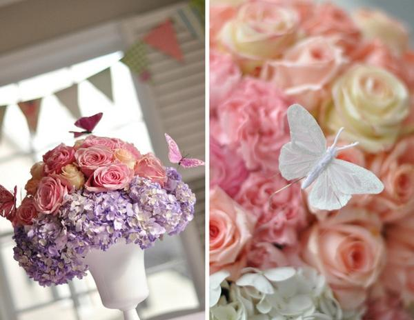 DIY Butterfly Floral Centerpieces