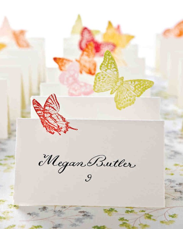 Seating Butterfly Cards