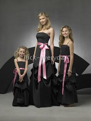 Black Flower Girl Wedding Dresses Sang Maestro