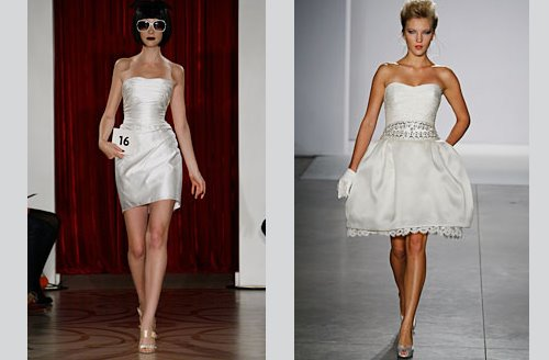 Sleeveless Mini Wedding Dresses