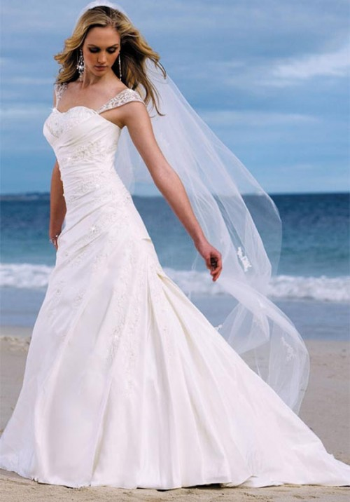 strapless summer beach wedding dress sang maestro